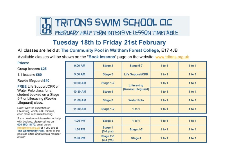 Tritons Swim School CIC